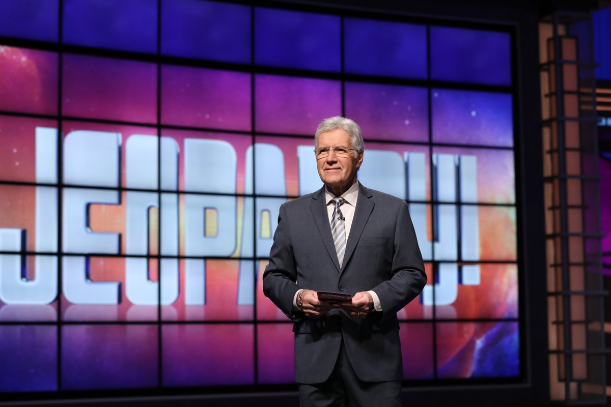 Jeopardy! is saddened to share that Alex Trebek passed away peacefully at home early this morning, surrounded by family and friends. Thank you, Alex.