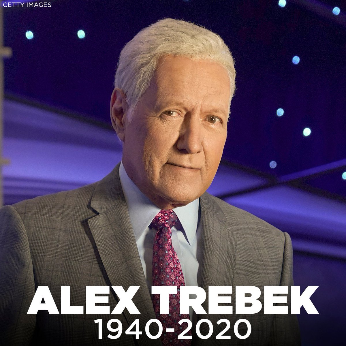 """REST IN PEACE: Alex Trebek, the longtime host of """"Jeopardy,"""" has died nearly a year and a half after his stage 4 pancreatic cancer diagnosis. He was 80. https://t.co/jvcLLYzOX8 https://t.co/1BnsZ5NOHV"""