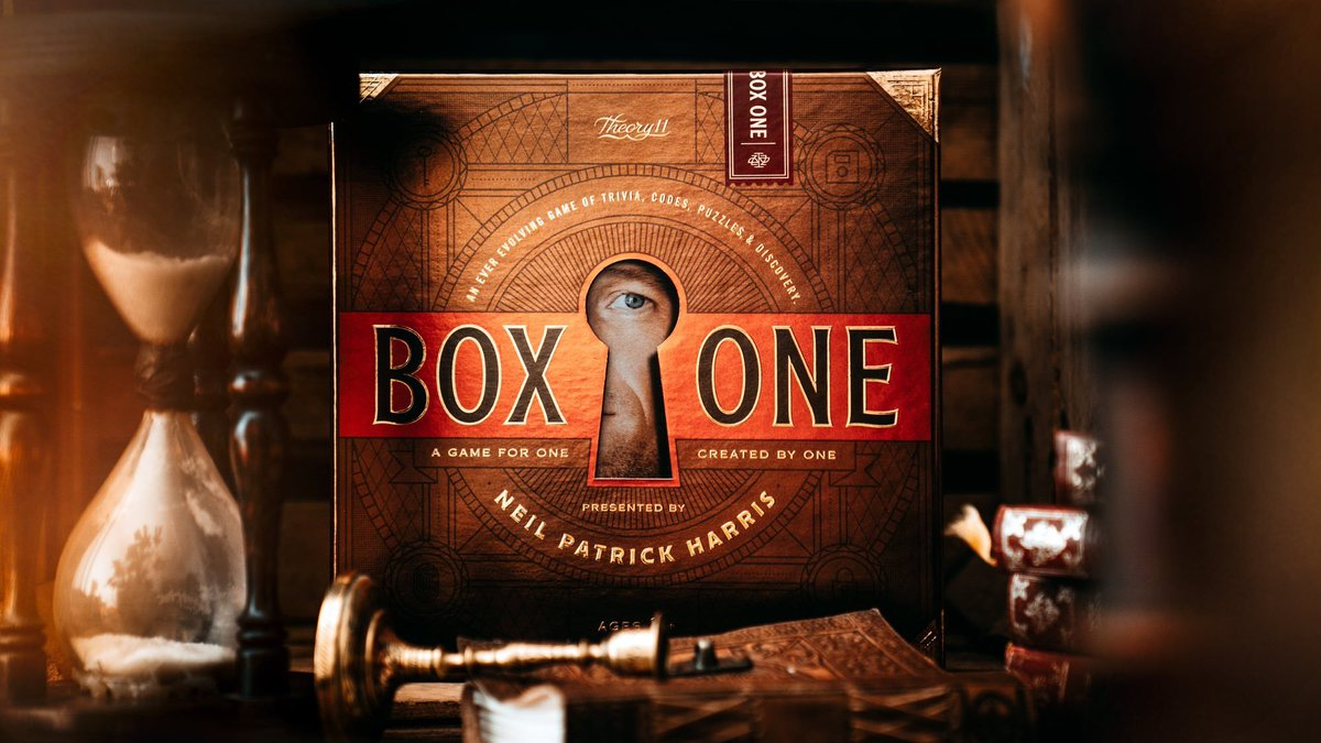 💥Just finished @actuallyNPH's #BoxOne!  WAY MORE than meets the 👁️. Great idea & super neat LOADED w/puzzles, codes & mental challenges!  Should be at top of your holiday gift-giving ideas list for your super-smart-hard-to-shop-for friends! They'll <3 it!