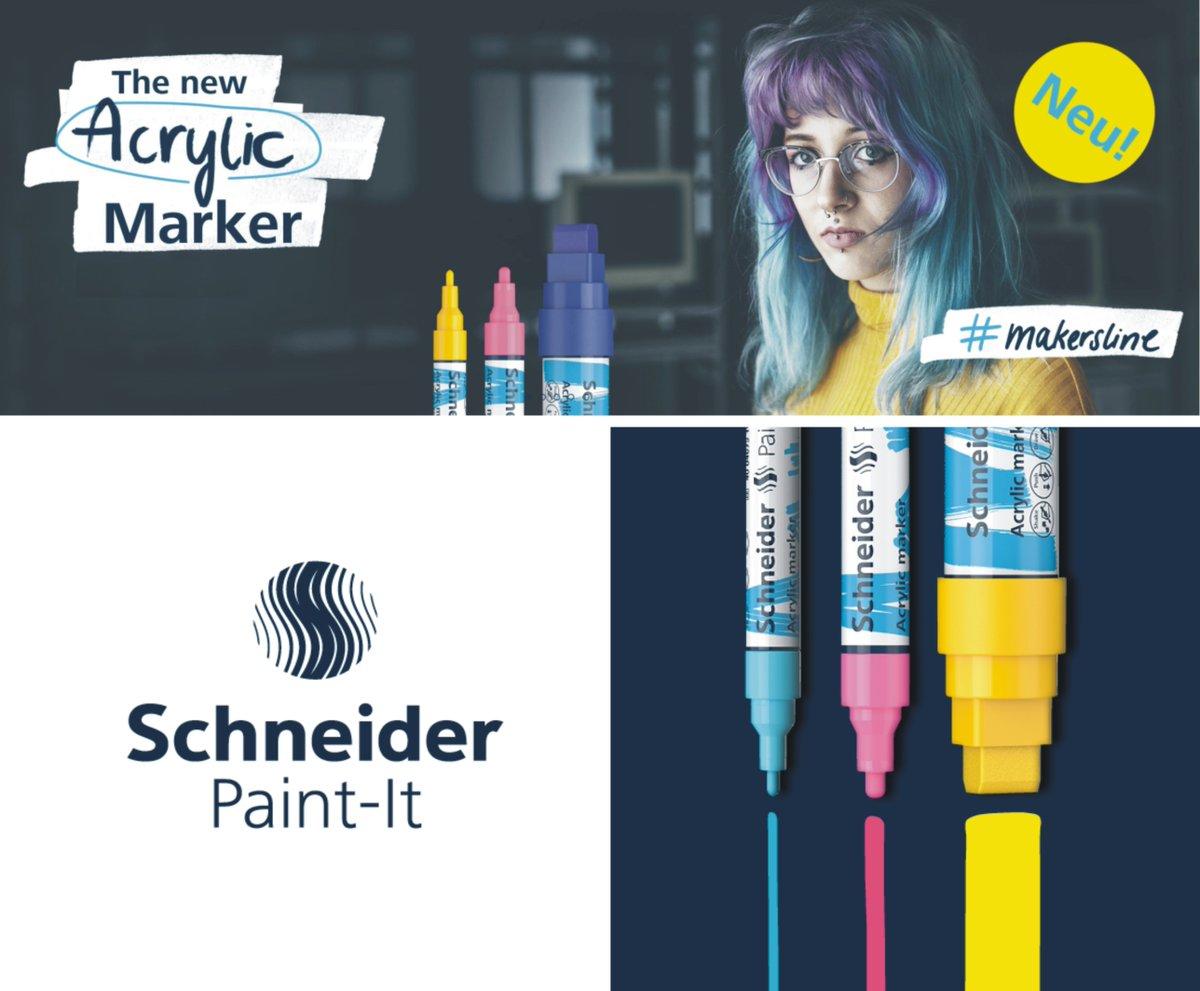 SCHNEIDER Acrylmarker Paint-It - Der Marker für Macher. Mit der hochdeckenden Acrylfarbe des Paint-It kannst du deine Lieblingsstücke bemalen, wie und wo du willst.  #makersline #paintit  #acrylicmarker #schneiderpaintit