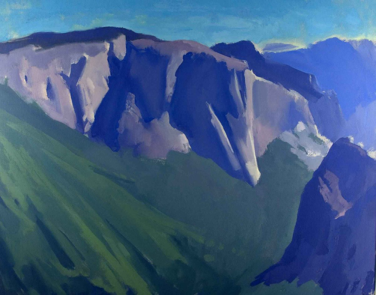 """One imagines the landscape beyond seeing it with the natural eye: one sees it with the eye of the mind."" – N. Scott Momaday  Painting: Richard Savini, 1986. Yosemite National Park museum collection. https://t.co/hvD2SBn8pJ"
