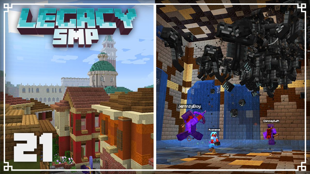 JermsyBoy - New Legacy episode is here! Today we take a little tour around everything we're done on the server, then meet up with everyone on the server for a little wither fight. Enjoy!