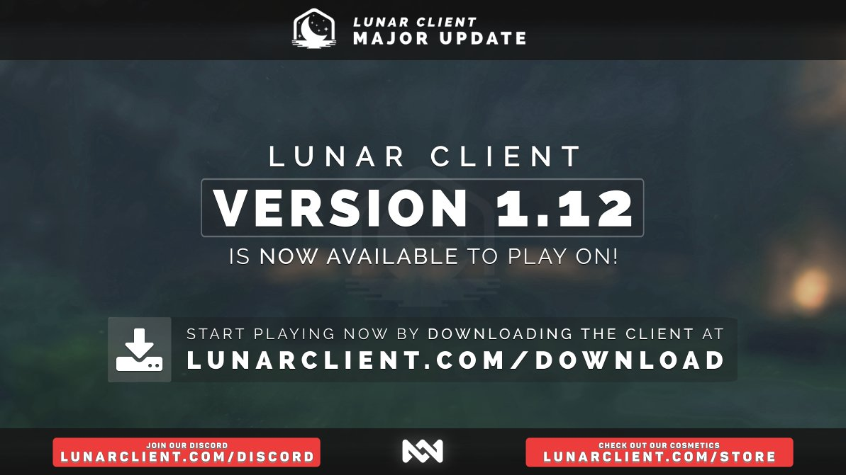 Lunar Client On Twitter Lunar Client 1 12 Is Now Available To All Users This Is A Public Beta So Please Report Any Issues You Guys May Come Across Download The