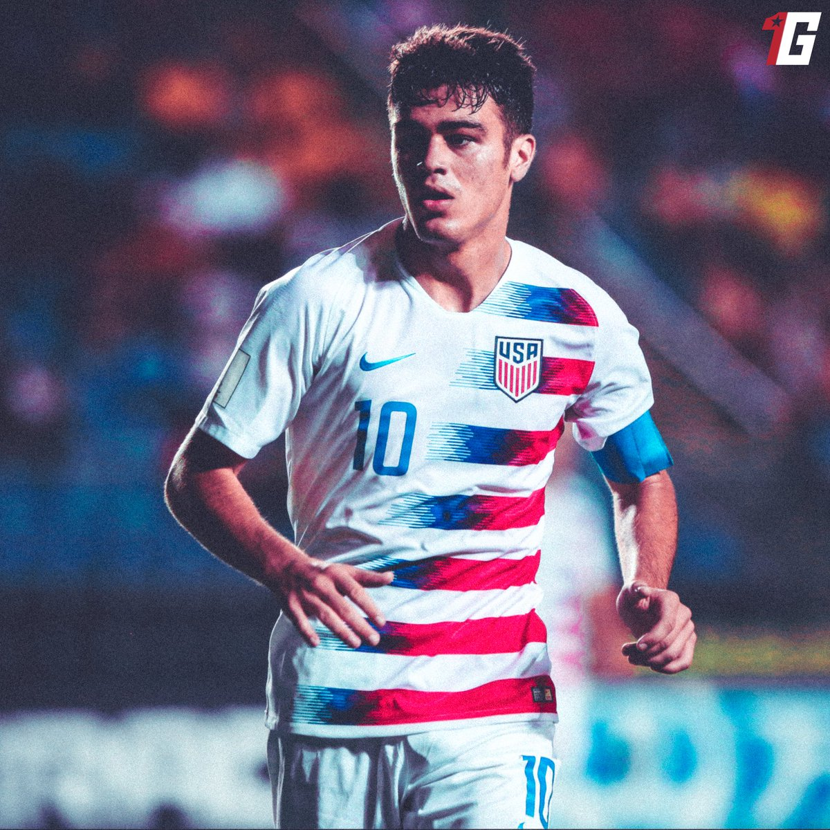 🚨 To celebrate that the USMNT is back, we are giving away a Gio Reyna USMNT jersey.   To enter the raffle:   1. Follow  2. Retweet   Winner will be announced two hours before kick off vs. Wales.