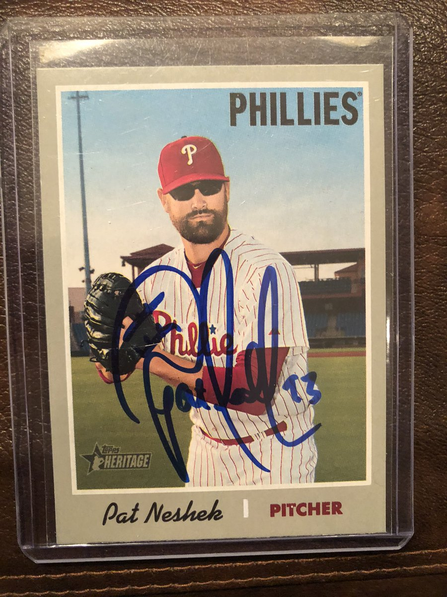 Former #MNTwins pitcher and Minnesota native @PatNeshek recreated a 1970 @Topps card with his 2019 Heritage image.  RT for a chance to win this autographed copy.  Must be following to win.