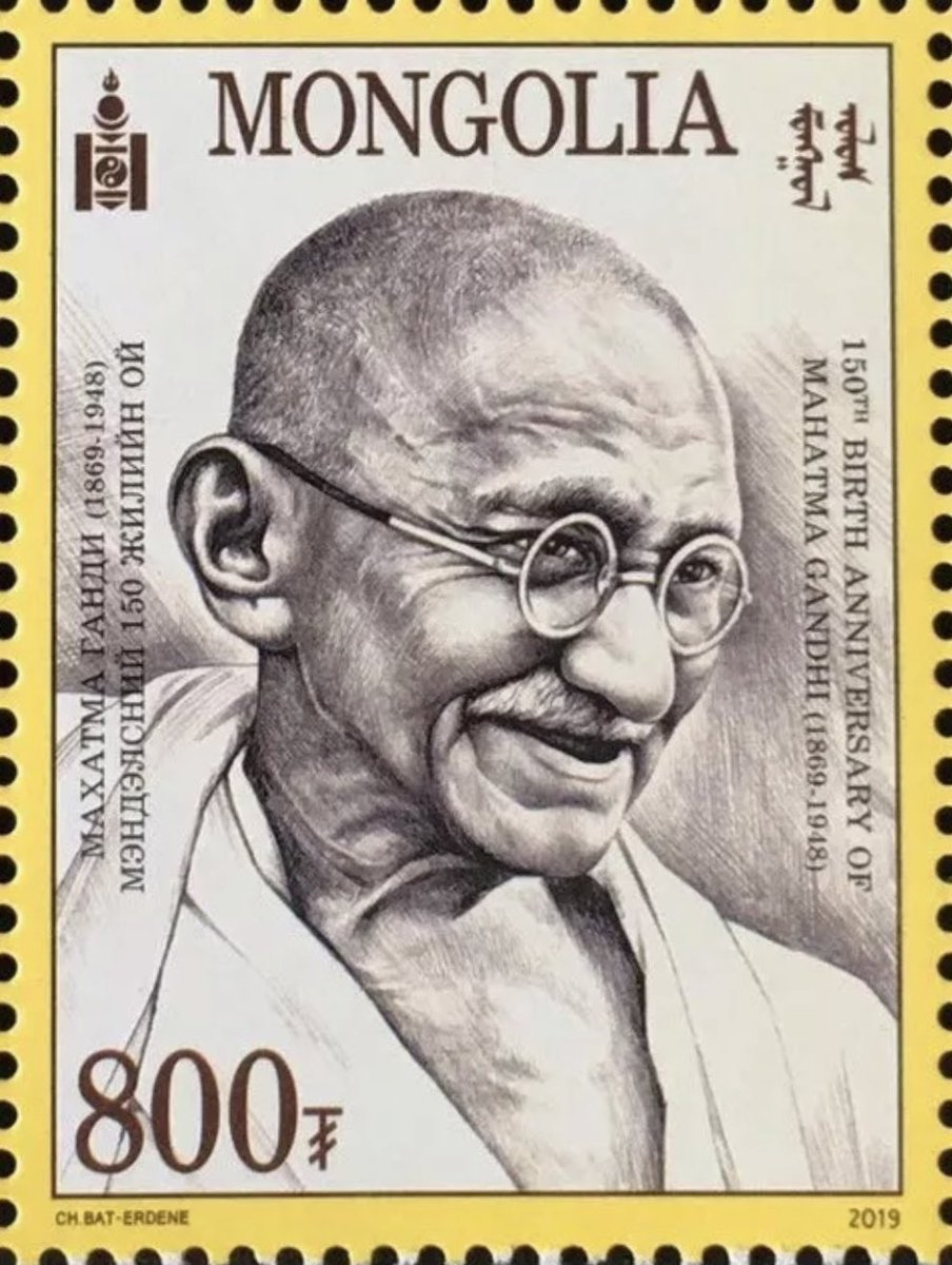 These three postal stamps issued on Mahatma Gandhi in October 2019 by post offices of Afghanistan, Madagascar and Mongolia are either expensive or difficult to find.  If your collecting Gandhi stamps, get these.  @IndiainMongolia   #BetterPhila #Gandhi150 #GandhiEncore #22