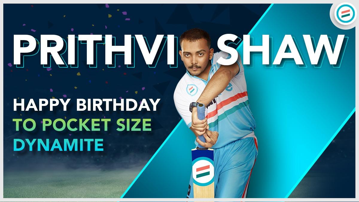 Wishing the young champ of #TeamBharatPe a very Happy Birthday! @PrithviShaw  #CheerForTeamBharatPe #prithvishaw #prithvishawfans #happybirthday #celebration #Delhi #match #benefits #Business  #UPI #CricketSeason #cricketstars