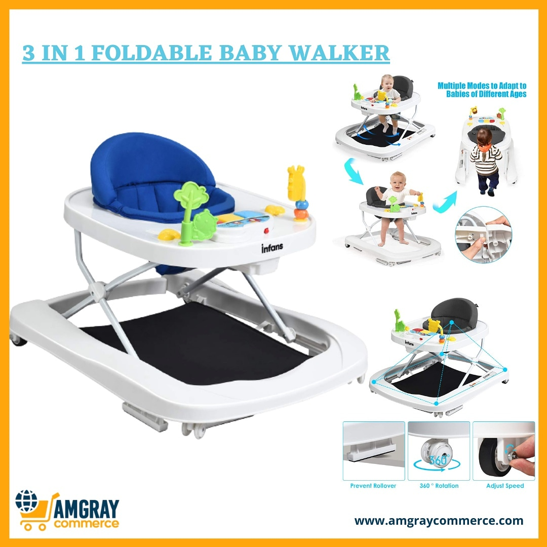 Visit our  to place your order for this 3 in 1 convertible baby walker with safety bumper, compact fold for quick storage, 3 position height and adjustable speed. #mondaythoughts #MondayMotivation #baby #BabyIsComing