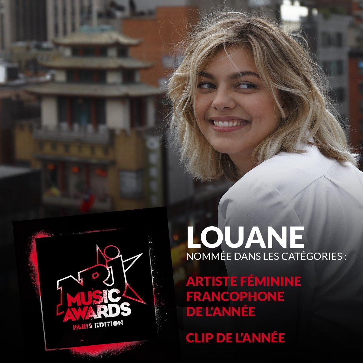 Votez pour @louane aux #NMA2020 !   Artiste féminine francophone ➡️   Clip de l'année ➡️    🔴 N'oubliez pas la personne qui like RT ou commente le plus cette publication chaque jour remportera peut-être un magnifique cadeau 🎁