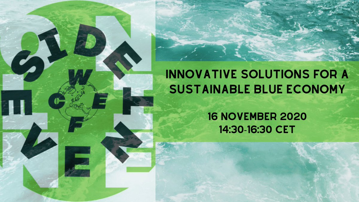 """Register for the #WCEFOnline side event on """"Innovative projects for a sustainable #BlueEconomy taking place on 16 Nov.   At the event you can hear more about BIOGEARS from our project coordinator @LeireArantzame1 from @azti_brta    #BiobasedMaterial #SustainableAquaculture"""