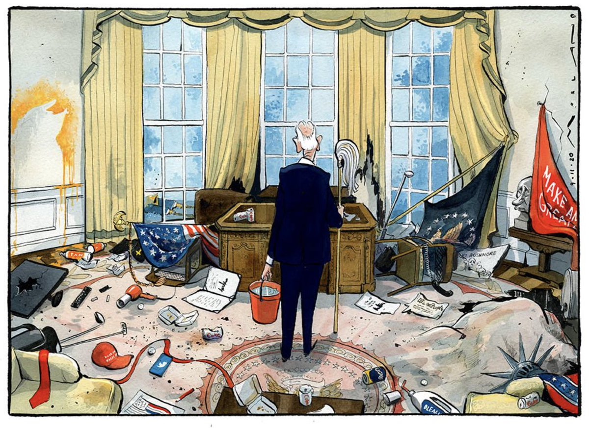 This cartoon from @thetimes should be put straight into a gallery as an iconic artwork of modern times. It is as detailed as it is poignant. https://t.co/hVGSmx9Z8t