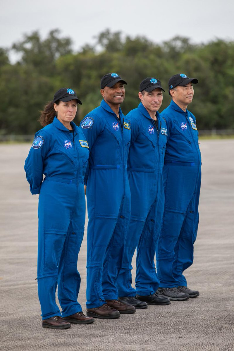 #ICYMI: The Crew-1 astronauts arrived at Kennedy Space Center yesterday to start final preparations for liftoff! 🚀  Tune in at 1:15 p.m. ET today for a Virtual Crew Media Engagement as the astronauts answer questions live from the Astronaut Crew Quarters: https://t.co/1XQVljTkIl https://t.co/butv7h87Le