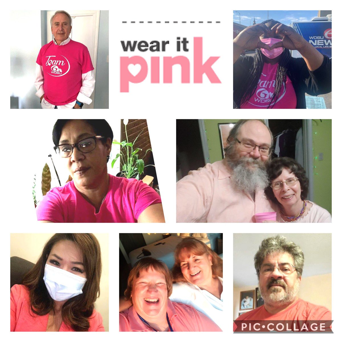 We're fresh off of the #MakingStridesNola weekend. Some of the @wdsu fam pulled out the pink to spread a little #hope. You can still done!  #wearitpink @wdsu