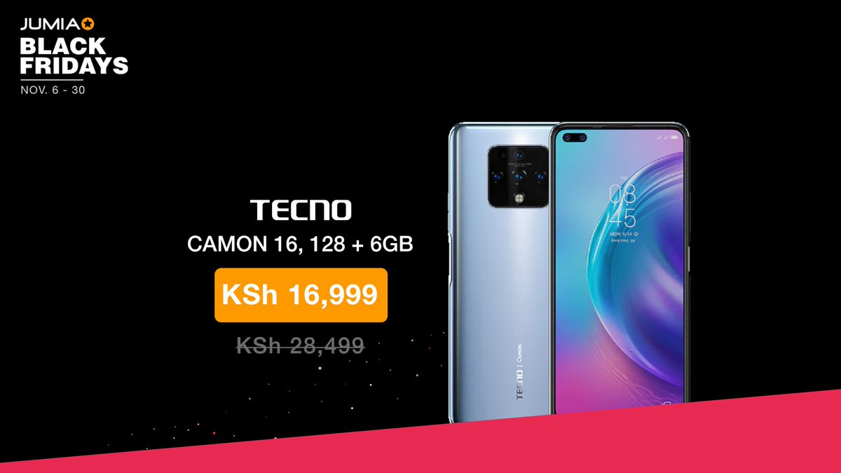 Tecno Jumia Black Friday Phone Offers Tecno Camon 11 Smartphone 3gb 32gb 16mp 6 2 Dual Sim Lte 1 5ghz Quad Core Processor Black