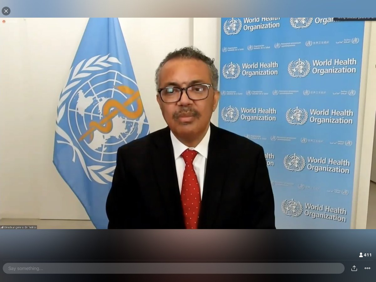 """""""There is no vaccine for poverty, hunger, climate change, and inequality"""" says @DrTedros #WHA73"""