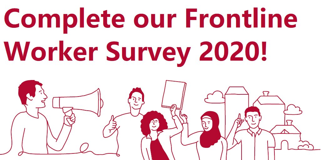 We have launched the 'Frontline Worker Survey 2020' & we need you to hear from you!   𝗖𝗢𝗠𝗣𝗟𝗘𝗧𝗘 𝗧𝗛𝗘 𝗦𝗨𝗥𝗩𝗘𝗬 𝗛𝗘𝗥𝗘:   Share this survey to ensure decision-makers listen to frontline workers when developing strategies to reduce homelessness.