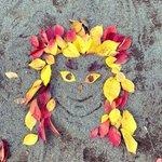 秋ならではの芸術作品!?落ち葉で作った煉獄さんがかわいい!