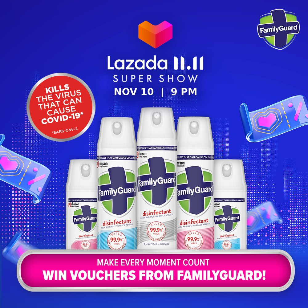 Make every moment count and win vouchers from FamilyGuard on our Lazada 11.11 Super Show, start watching at 9pm on #Lazada app!  Tell you what, FamilyGuard is having up to 22% off storewide + RM5/ RM8 Vouchers on #LazadaBiggestOneDaySale! Add to cart here: https://t.co/mug7YjBO7c https://t.co/scV7wiQjFy