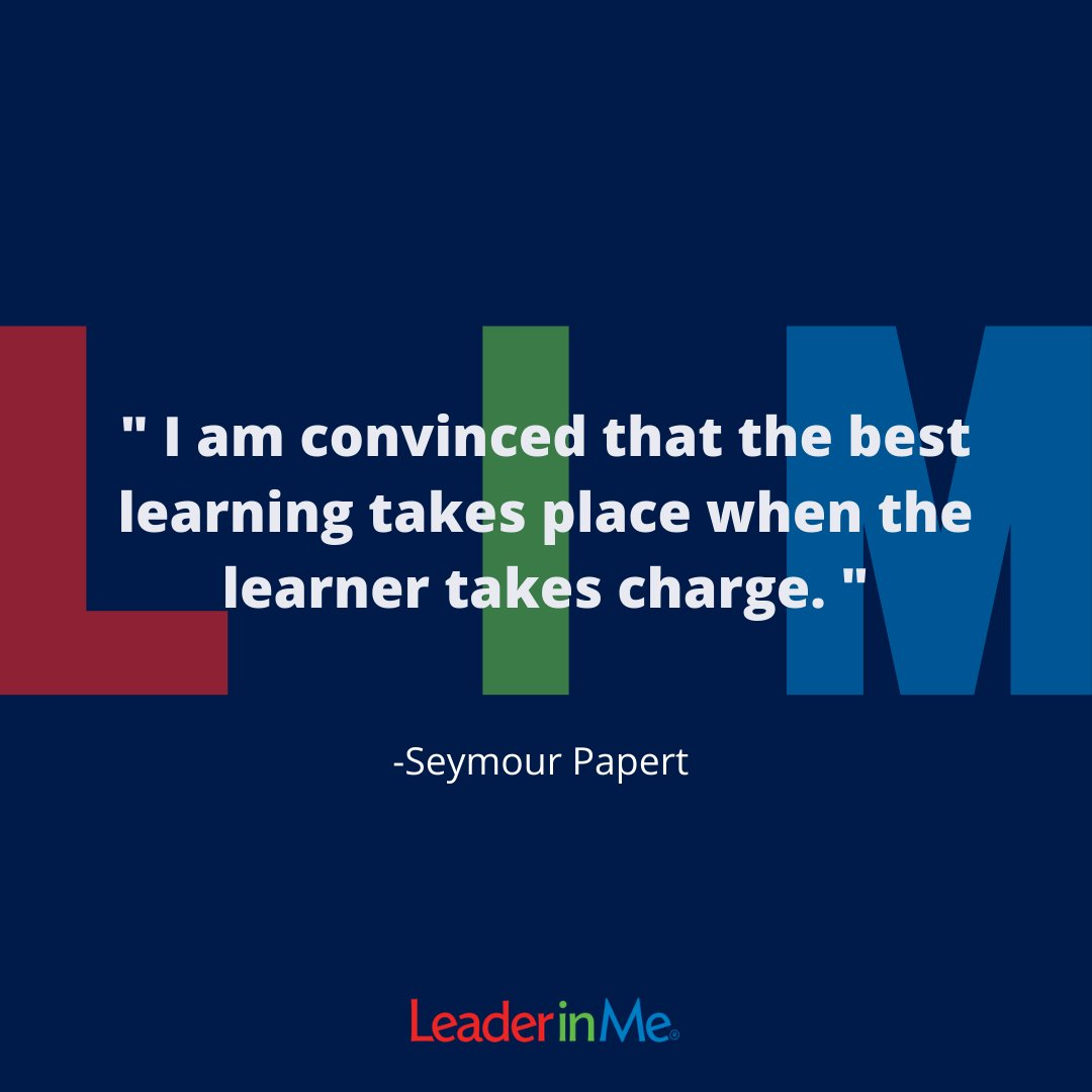 We thought this would be perfect for our Motivational Monday. #leaderinme #lim #motivationalmonday