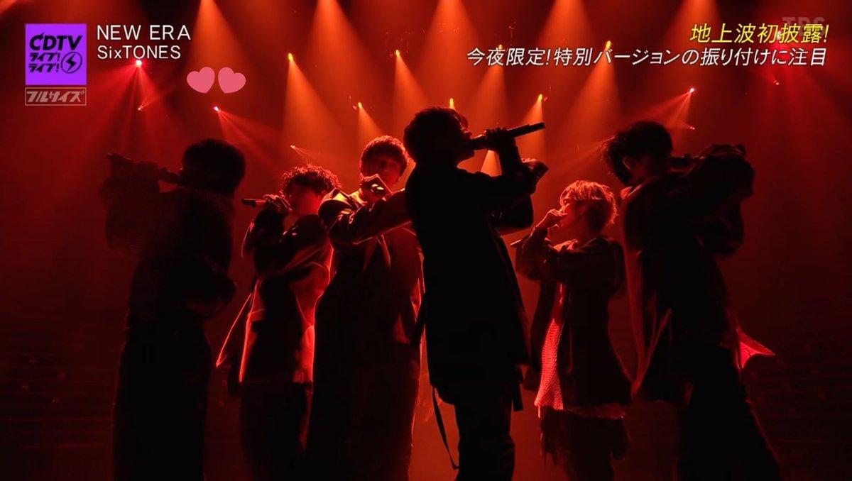 最後のこのポーズ、YOSHIKIさんのXっていうより、 ASL(アメリカ手話)で、LOVEって意味だ!!!  #SixTONES_NEWERA #SixTONES #CDTVバージョンどこが違う