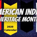 Image for the Tweet beginning: American Indian Heritage Month Calendar