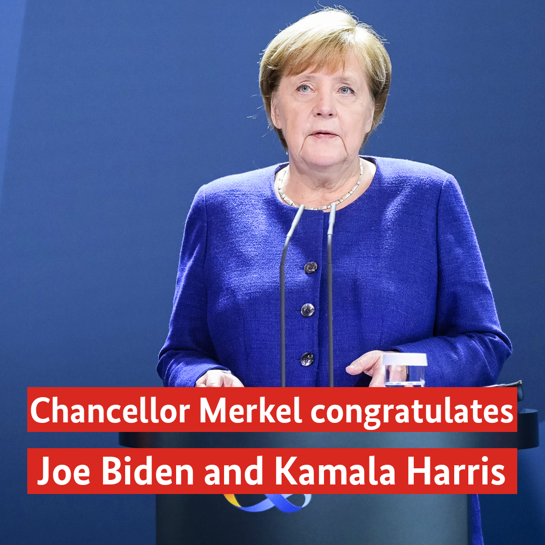This video of Chancellor Merkel congratulating @JoeBiden and @KamalaHarris is worth your time. Merkel talks about German history, the role of the United States and much more. Take a look: