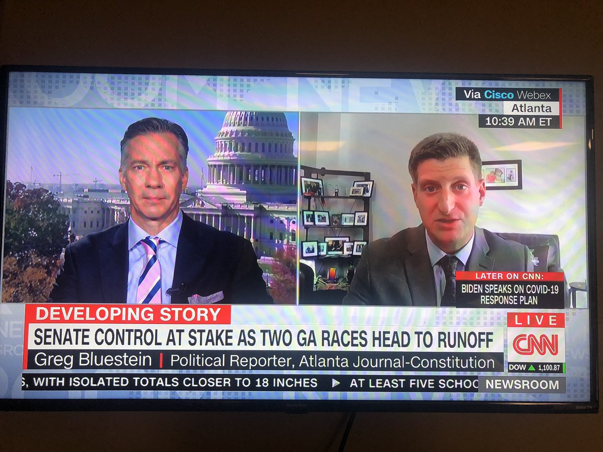 @bluestein is on @CNN discussing the two US Senate races. Take 'em to school Greg.