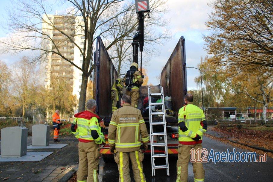 Brand in een ondergrondse container Korianderplein #Apeldoorn. 112Apeldoorn.