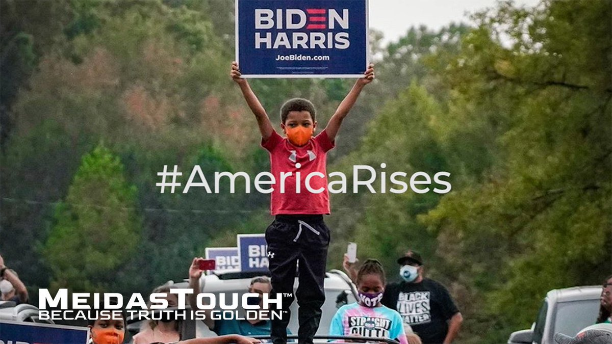 I'll never forget the feeling so many of us had when we knew Biden had won! Every time you need inspiration or a positive reminder...just watch this @MeidasTouch video! I could watch this every day! 💙🇺🇸💙#AmericaRises