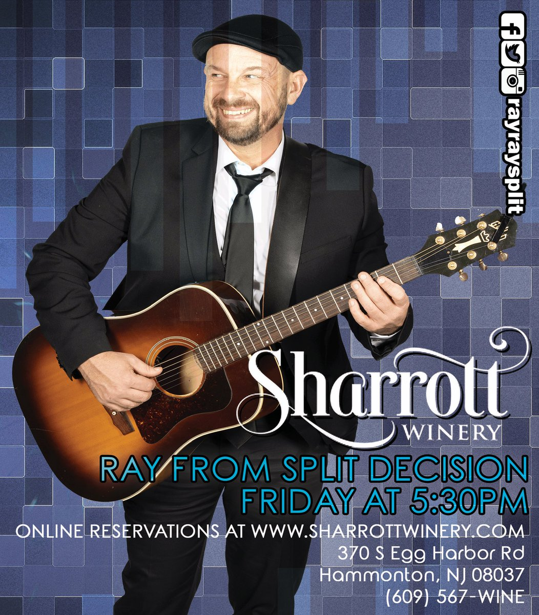 I'll be at @sharrottwinery this Friday, bright and early at 5:30pm!