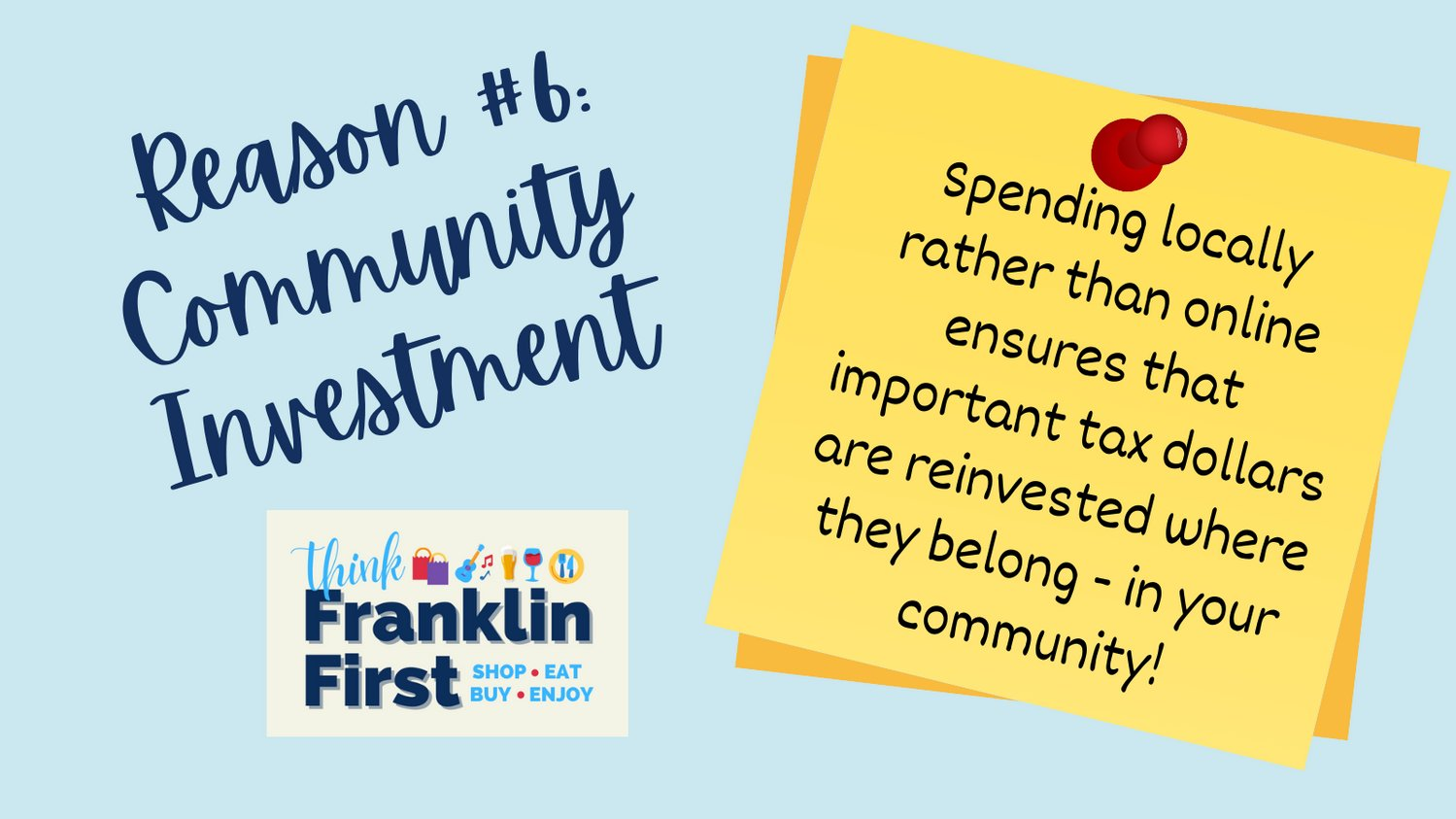 Town of Franklin, MA :  Reason #6 to #ThinkFranklinFirst