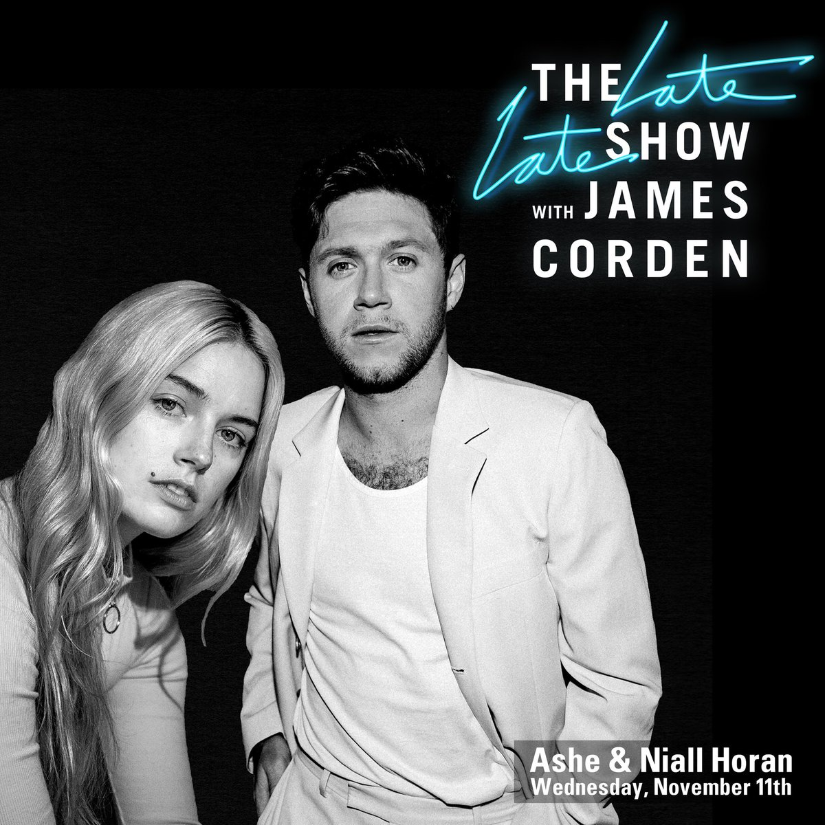 as if 2020 couldn't get any stranger!! i'm absolutely besides myself to announce my first ever late night tv performance will be on the @latelateshow with @JKCorden with none other than my sweet friend @NiallOfficial this nov 11th! 😅🥶🥵🥳 #latelateshow