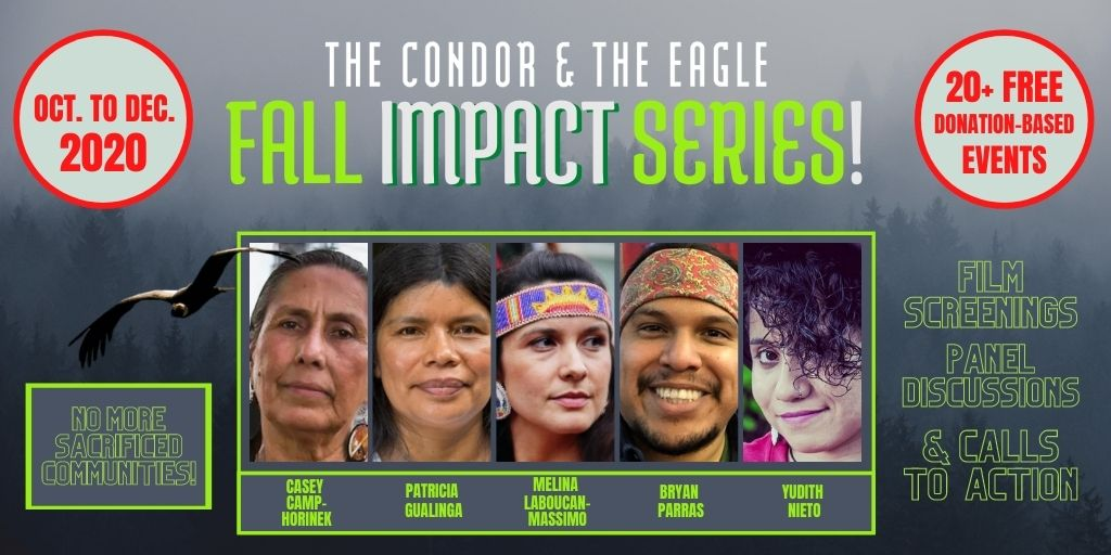 WE ARE BACK WITH OUR FALL IMPACT SERIES!    Join our Fall Impact Series / Oct. to Dec. 2020 / Screenings - Discussions & Calls To Action! Register to one of our inspiring events!