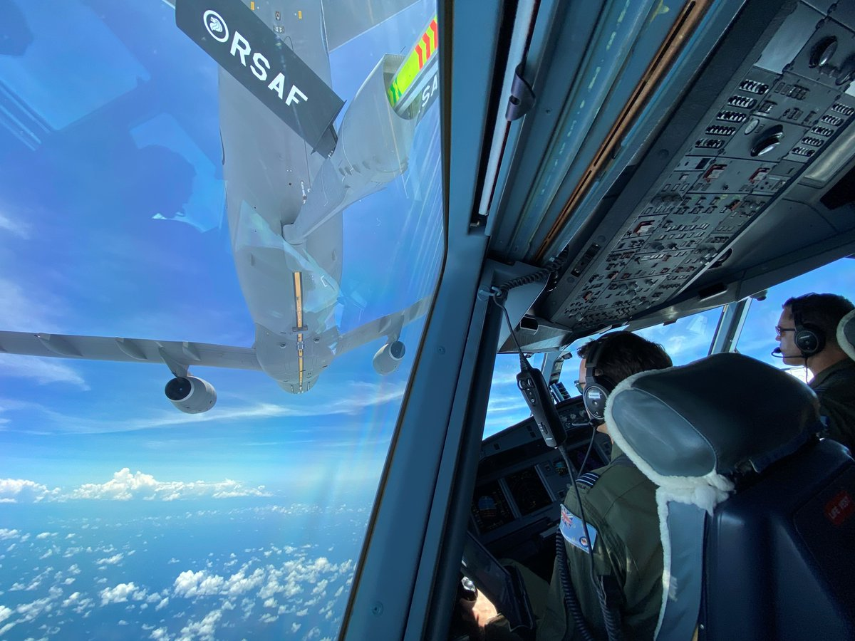 In a #AusAirForce first, one of our KC-30A Multi-Role Tanker Transports has been refuelled in the air by a foreign air force. The @TheRSAF doing the honours. ⛽✈️  Read the story: https://t.co/aIJBhDq3Hw https://t.co/Nh6lpzgRcv
