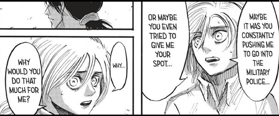 I love how much both Ymir and Eren care about Hisu: