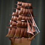 帆船のプラモデルをチョコレート色に塗ったら?アルフォートが完成した!