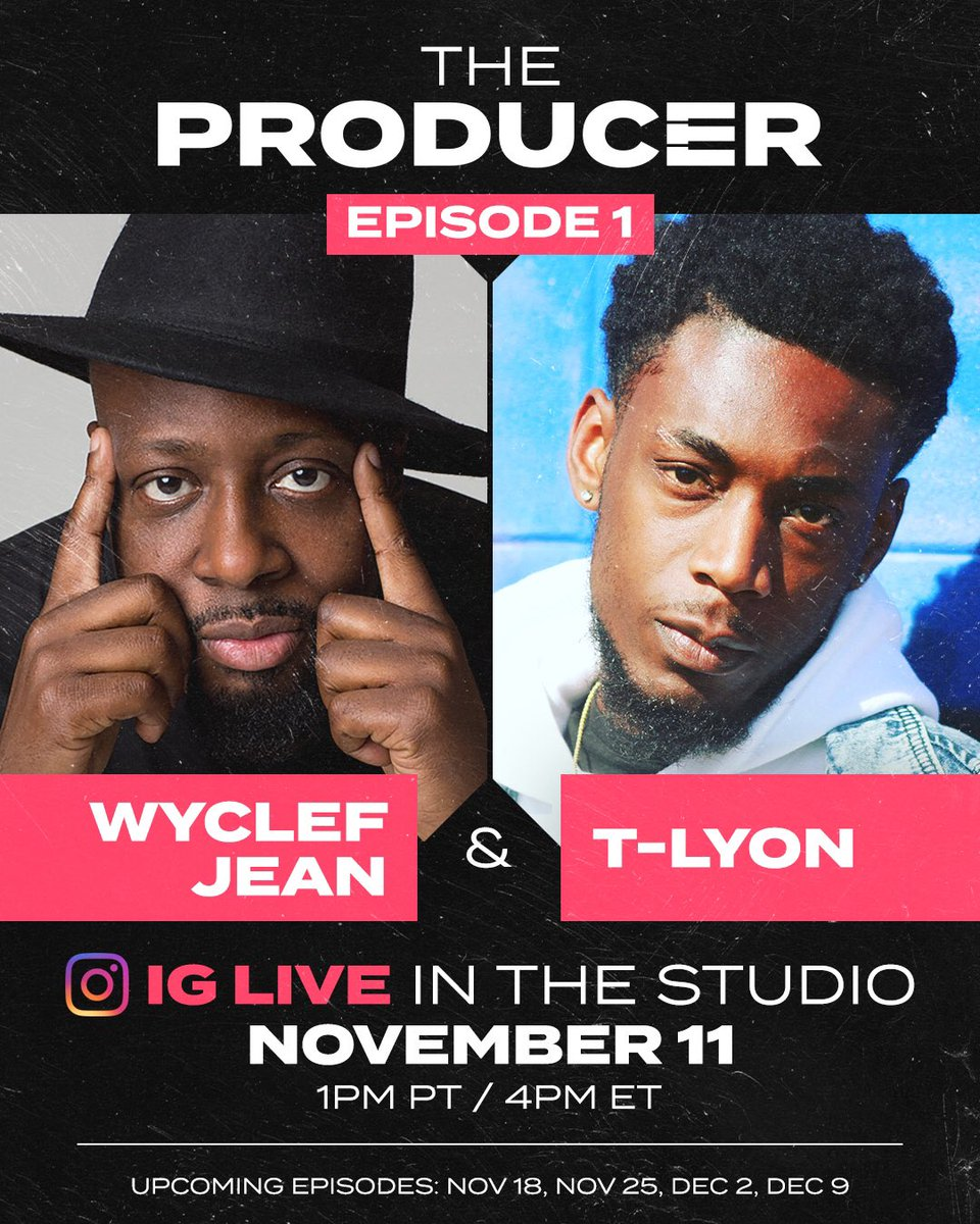For the next 5 weeks I'll be on @triller  IG live with the legend @wyclef writing and producing original tracks🤯I'm telling y'all this not supposed to happen where I'm from but I'm forever grateful for the blessings🙏🏾tune in💯