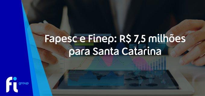 A Fapesc e a Finep anunciaram que vão destinar mais R$ 7,5 milhões para 28 empresas catarinens....