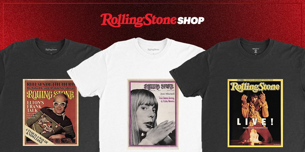 Today is Rolling Stone's 53rd anniversary. Celebrate by shopping the exclusive collection featuring our logo through the decades #RollingStoneShop