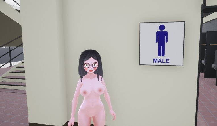 Mmd enf naked behind glass