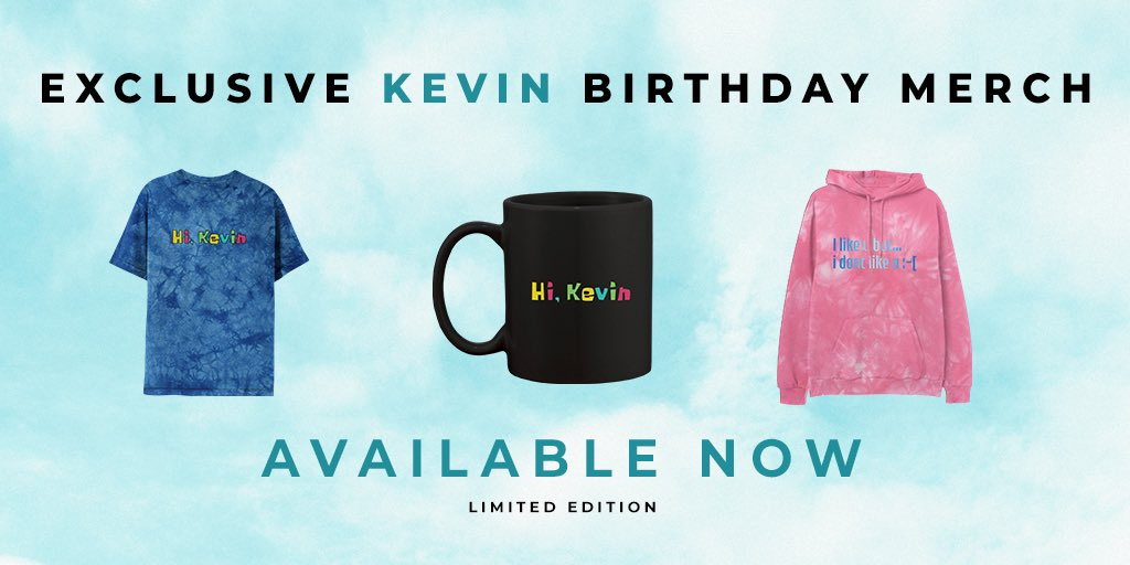 In case you missed it... Exclusive @kevinjonas birthday merch is now available in the online store!   Get yours at  😎
