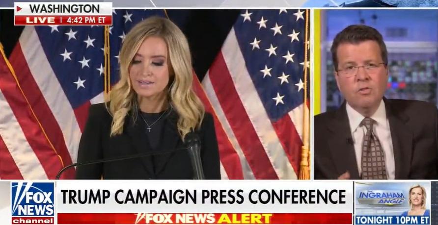 マッケナニーさん会見  「何も隠すことがないのであれば、トランプ陣営の透明性を確認しようという行為を妨げてはならない。公正でフェアで透明性のある選挙を・・・・・」  って話してるときに、FOXアンカーが「詐欺の証拠はない」と会見カット、コマーシャルに移行した。。。