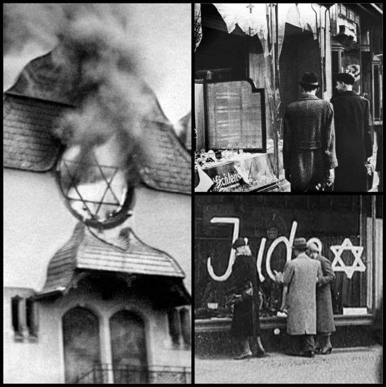 """Inbar Cohen auf Twitter: """"Today we remember the awful night known as """"Kristallnacht"""" (crystal night). Over 7,000 Jewish businesses were either destroyed or damaged. 1,000 synagogues were burned. 91 Jews were murdered"""