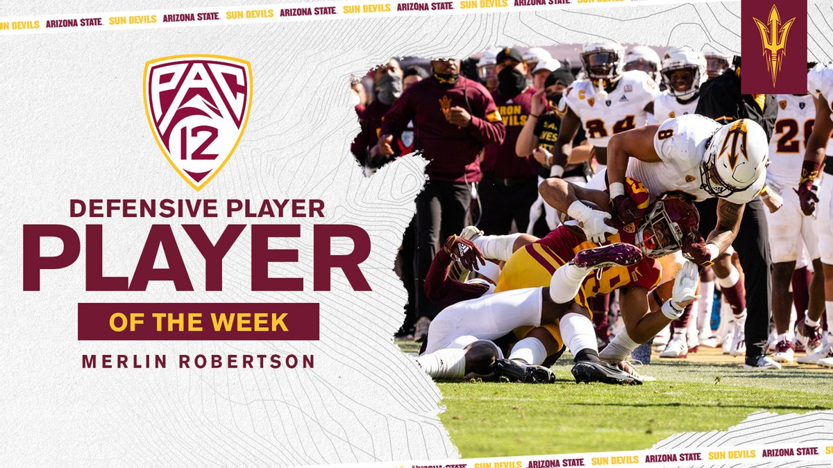 Congrats @_Merlin_2 on being named Pac-12 Defensive Player of the Week❗️