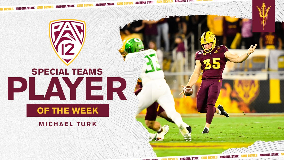 Congrats @HangtimePunter on being named Pac-12 Special Teams Player of the Week❗️