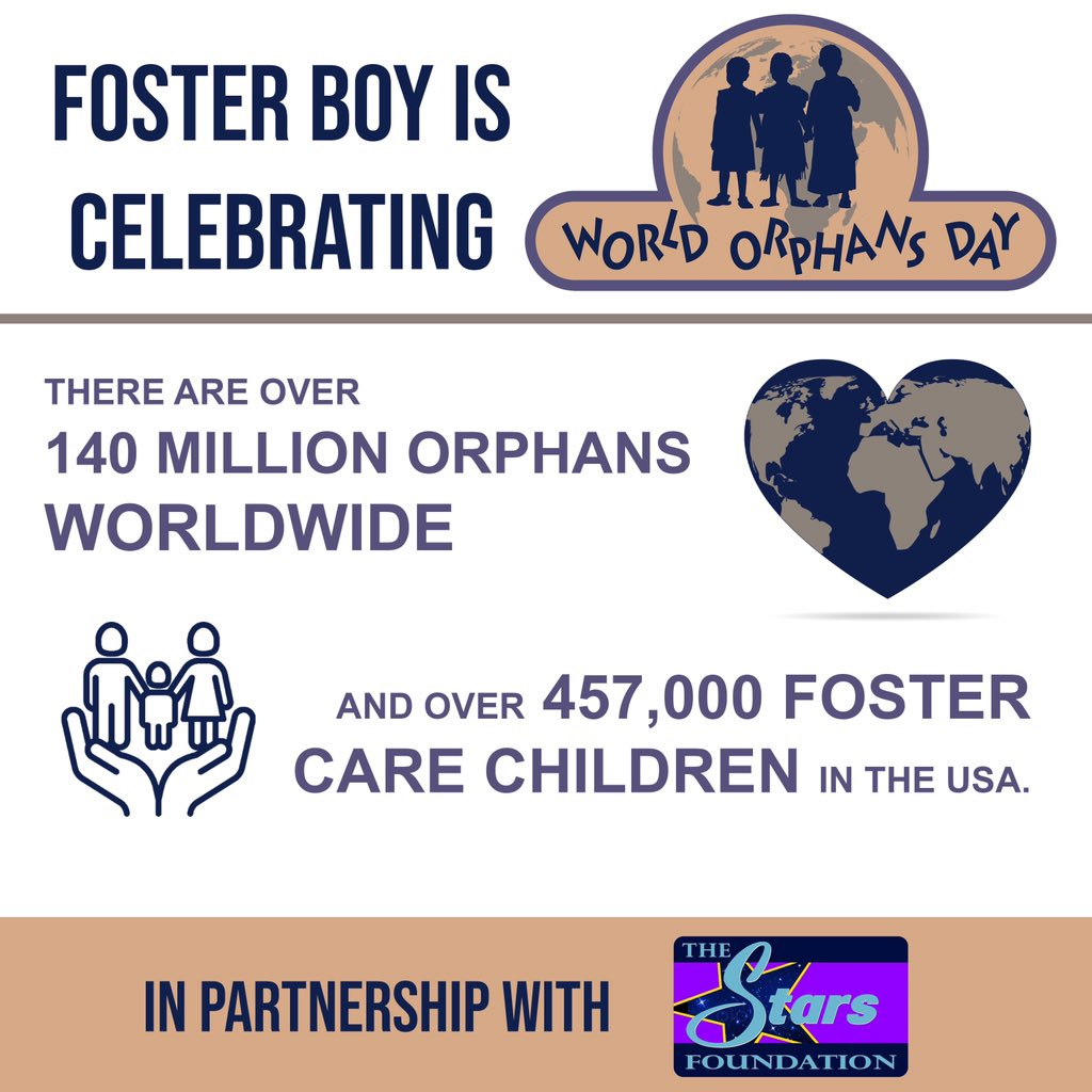 Today, on World Orphans Day, the Foster Boy movie and The Stars Foundation are shining a spotlight on the stories of 457,000+ Foster Children in the US alone. Visit  to learn how you can support these remarkable children. #WorldOrphansDay #FixFosterCare