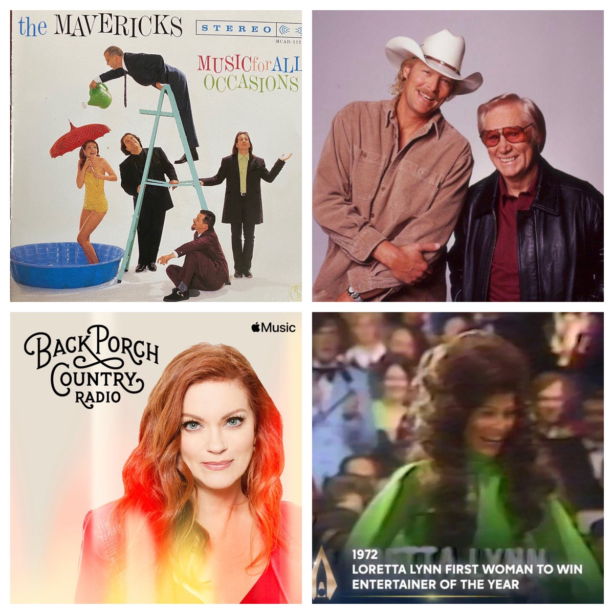 Memorable Moments @CountryMusic Awards on Back Porch Country Radio @applemusic 6p today #CMAawards #backporchcountry #applemusic @OfficialJackson @LorettaLynn @MavericksMusic