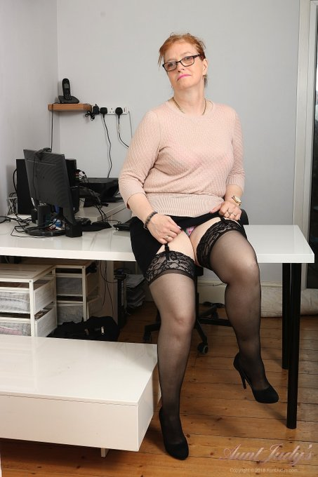 1 pic. 💗 Fiona's Office Debut! 💗  Fresh Out of the Oven! 53yo REAL AMATEUR REDHEAD Fiona in her sexy