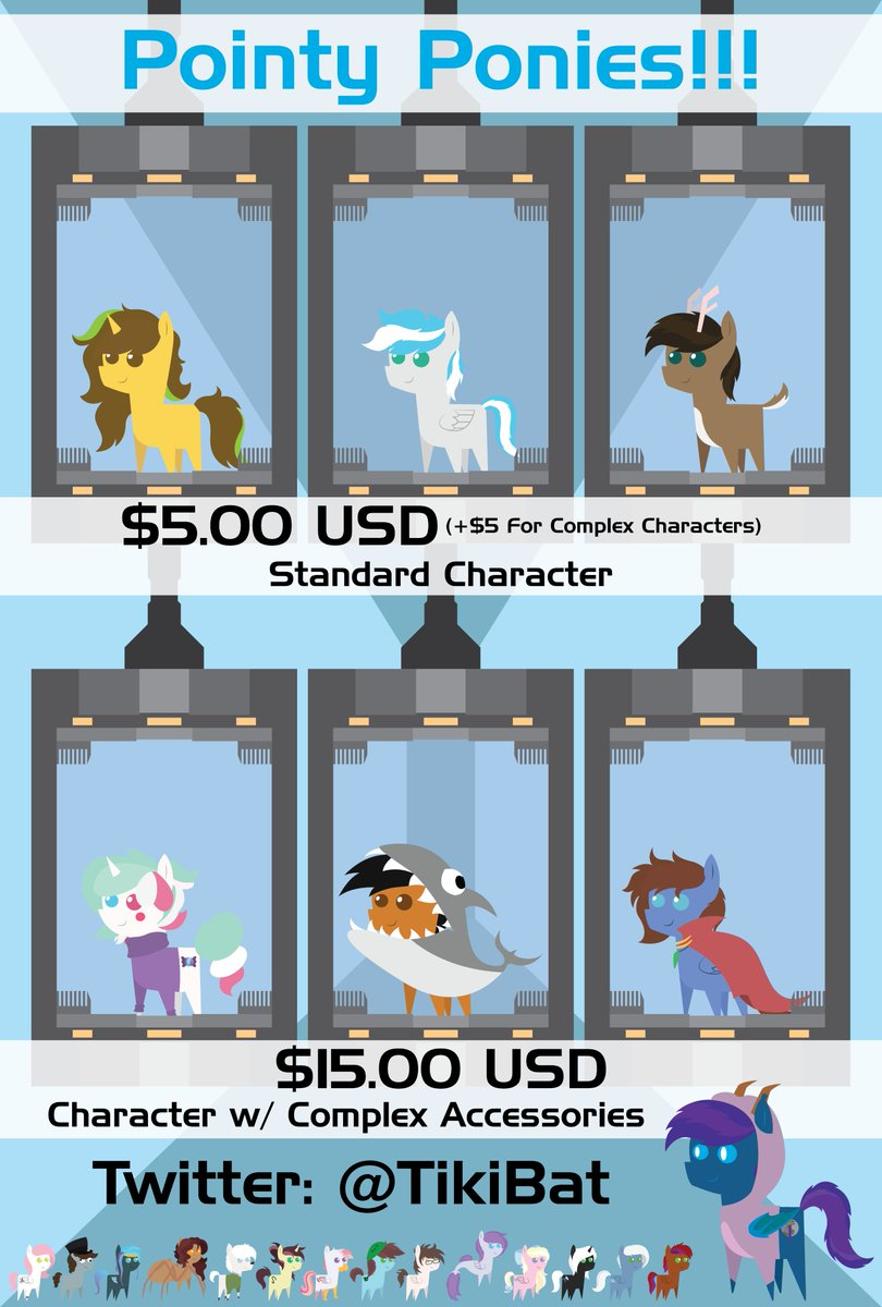 Current commission options and prices! #mlp #mylittlepony