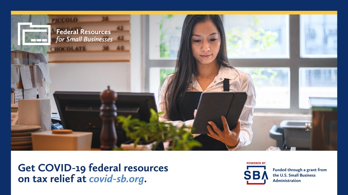 Do you have questions about #COVID19 tax credits for your #smallbiz? Find FAQs and much more on tax relief from @SBAgov here 👉